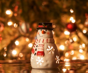 Snowman, Chrismas, christmas tree